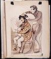 'Herrarna lära mista sina hvita jackor'. Löjtnant Adam Reuterskjöld . Akvarell av Fritz von Dardel - Nordiska museet - NMA.0037322.jpg