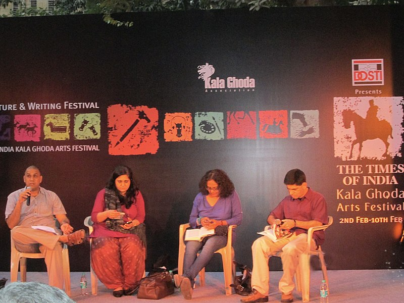 File:'Literature Discussions' at David Sassoon Library during 'Kala Ghoda Festival'.JPG