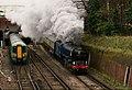 'Tornado' Leaving East Croydon (8230753192).jpg