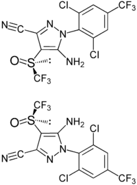 (±)-Fipronil enantiomers structural formulae.png