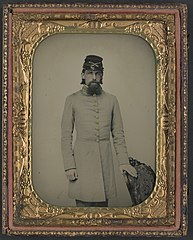 (Private William Stone of Co. D, 2nd South Carolina Cavalry Regiment, in uniform) (LOC) (14379010508).jpg