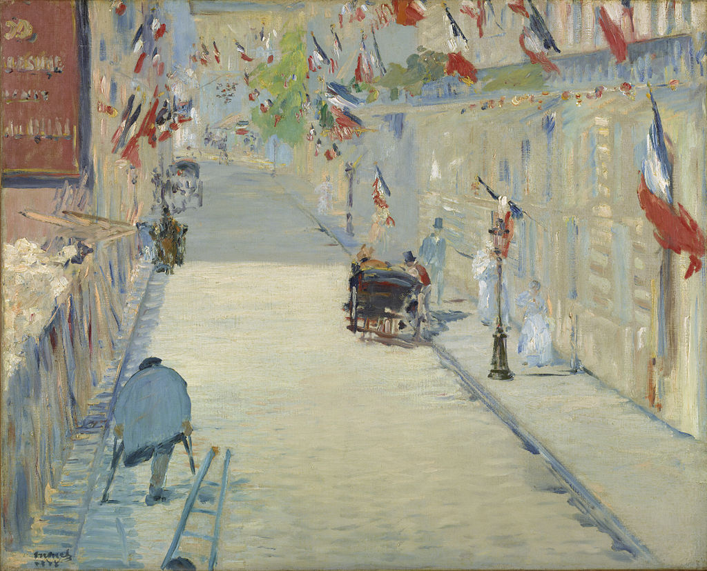 """The Rue Mosnier Dressed with Flags"" by Édouard Manet"