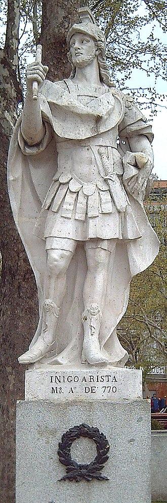 Íñigo Arista of Pamplona - Statue in the Plaza de Oriente, Madrid (José Oñate, 1750–53).