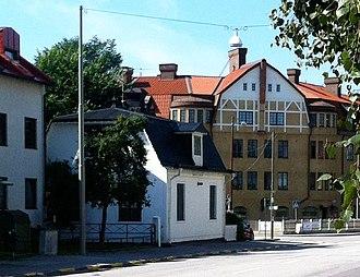 Örby - The street Gamla Huddingevägen in Örby