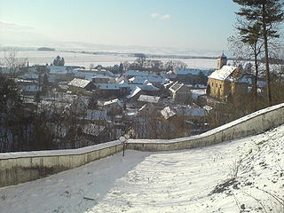 Úsov Town in Olomouc, Czech Republic