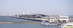 Port of Yokohama - Ōsanbashi Pier symbolizes the modern port.