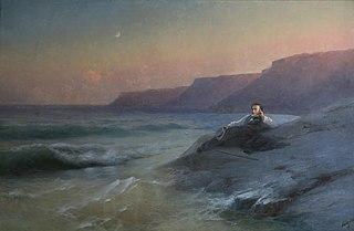 A. S. Pushkin at the Black Sea coast