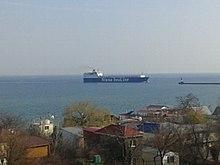 Захід судна у порт Чорноморськ.jpg
