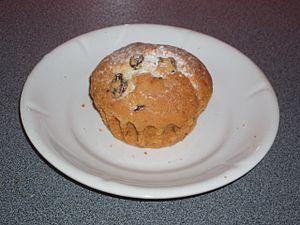 Raisin cake - Image: Кекс
