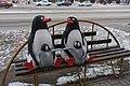 Пр.Советский,46, композиция Семья пингвинов на скамейке, 09.11.2011 - panoramio.jpg