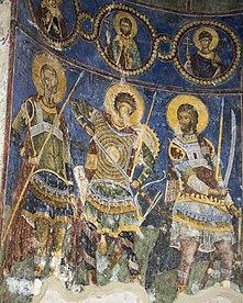 Свети ратници у Манасији