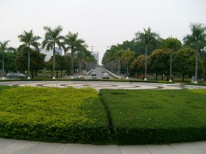 Shenzhen University - Garden and road