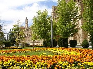 León, Spain - Gardens of Plaza de San Marcos