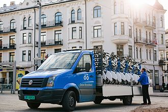 Oslo Bysykkel - Truck with city bikes.