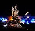 0912 Pomnik Papieża Jana Pawła II Iluminacja Szczecin SZN.jpg