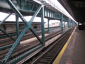 111th Street (IRT Flushing Line) - The express track above the station