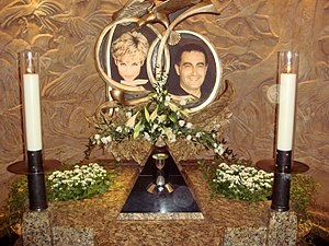 Dodi Fayed - Memorial to Diana and Dodi in Harrods.