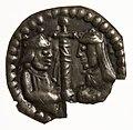 1157 brakteat til minde om brylluppet mellem Valdemar den Store og Sophie af MinskKMM-57736.jpg