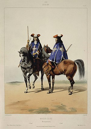 Musketeers of the Guard - Image: 1663 Louis XIV Maison Du Roi Mousquetaires