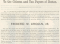 1862 mayoral campaign FredLincoln Boston.png