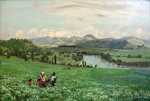 1873 Thoma Der Rhein bei Saeckingen anagoria