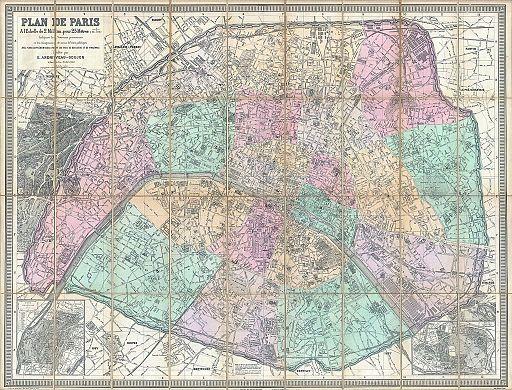 1882 Andriveau-Goujon Pocket Map of Paris, France - Geographicus - Paris-andriveau-1882