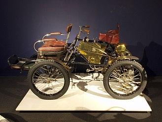 Motor Scout - For comparison  a De Dion quadricycle of 1900