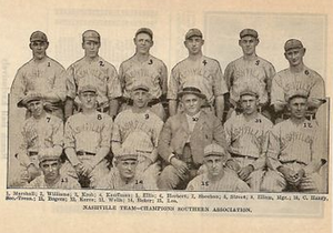 Gus Williams (outfielder) - Williams (labeled 2) signed with the Nashville Volunteers in 1916, leading them to the Southern Association Championship that year.