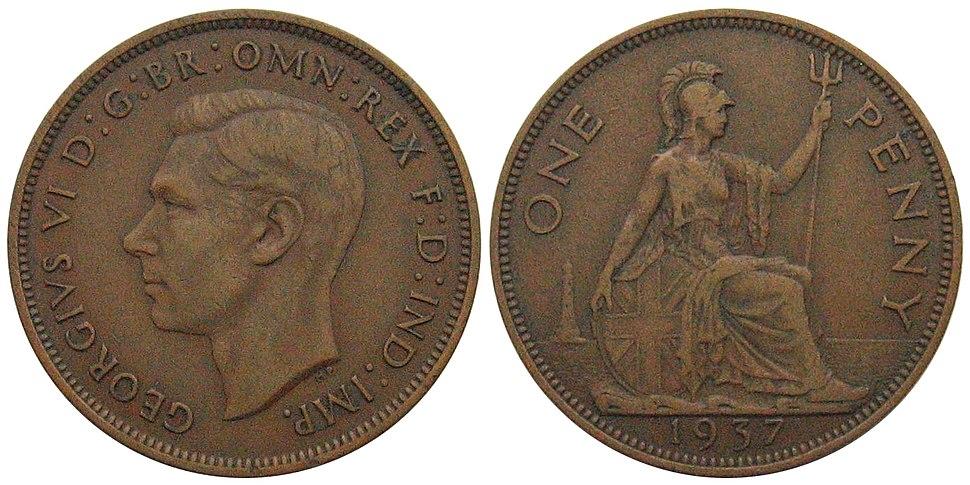 1937 George VI penny