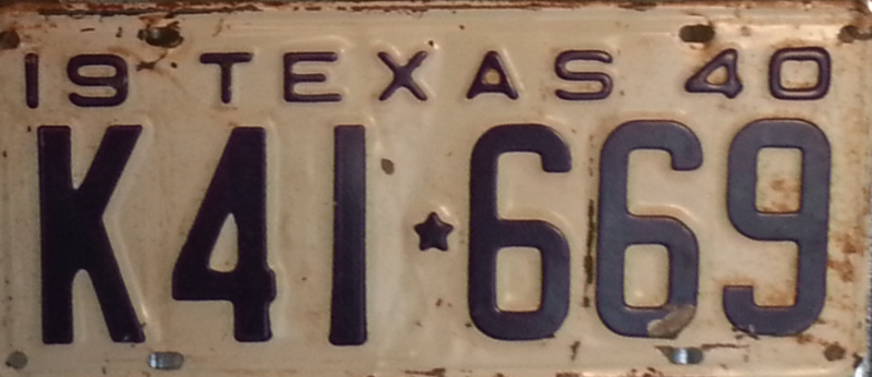File:1940 Texas license plate K41*669.png