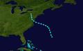1943 Atlantic tropical storm 7 track.png