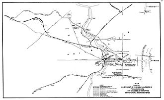 Main Line of Public Works - Railroads in Philadelphia that became a part of the PRR.