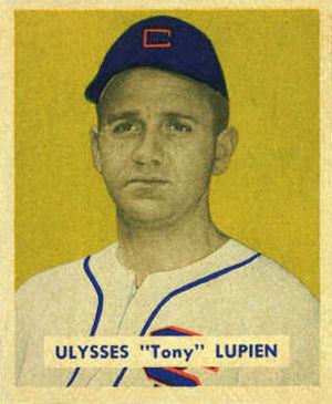 Tony Lupien - Image: 1949 Bowman Tony Lupien