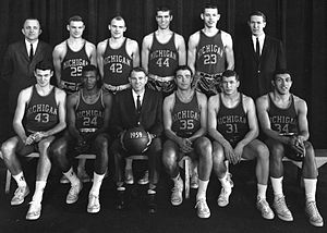 1958–59 Michigan Wolverines men's basketball team - Image: 1958 59 Michigan basketball team