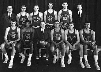 1958–59 Michigan Wolverines men's basketball team - Image: 1958 59 Michigan basketball team