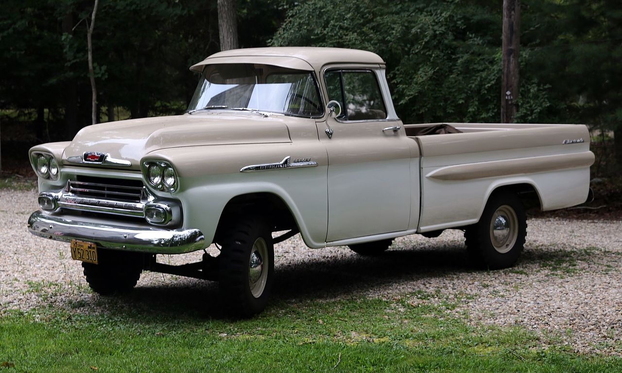 File:1958 Chevrolet Apache 4WD pickup truck (NAPCO).jpg ...