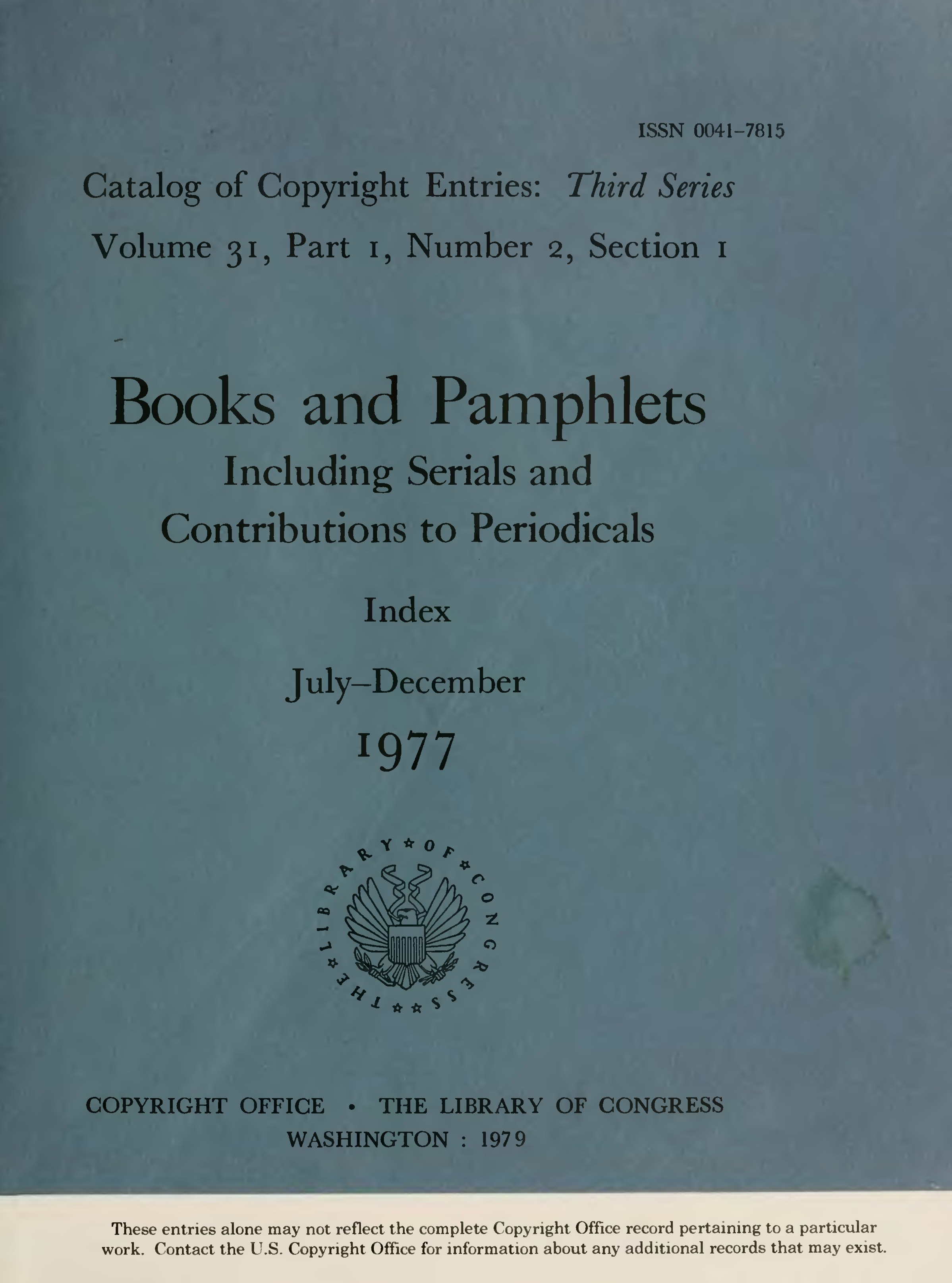 Page:1977 Books and Pamphlets July-Dec prt 1 sec 1 djvu/7