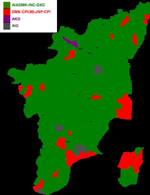 Tamil Nadu Legislative Assembly election, 1984 - Image: 1984 tamil nadu legislative election map