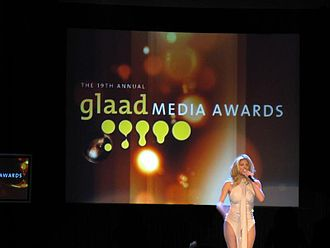 19th GLAAD Media Awards - Presenter on stage at 19th GLAAD Media Awards