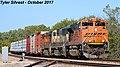 1 2 BNSF 9310 Leads SB Manifest Olathe, KS 10-8-17 (23754059418).jpg