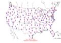 2006-02-07 Max-min Temperature Map NOAA.png