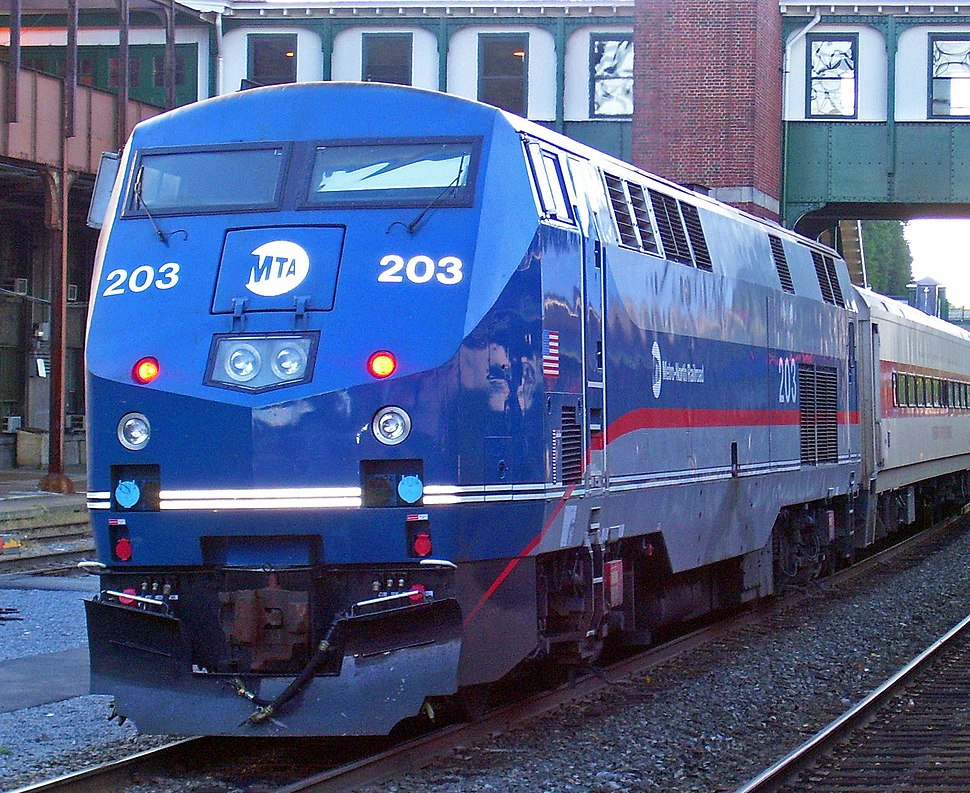 2007 new Metro-North GE Genesis paint scheme