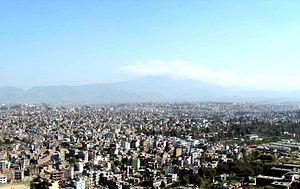 History of Kathmandu - The extent of Kathmandu city today across the Kathmandu Valley
