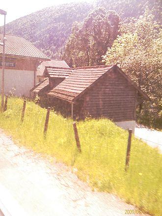 La Heutte - La Heutte village train station