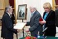 2010 Likhachev Foundation Prize ceremony - Nikita Blagovo, Daniil Granin and Alla Manilova.jpg