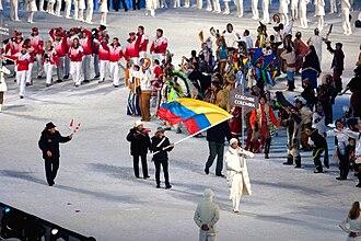 Cynthia Denzler - Image: 2010 Opening Ceremony Colombia entering