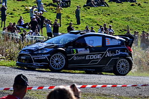 2011 World Rally Championship - Mikko Hirvonen with a Ford Fiesta RS WRC at the Rallye de France.