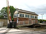 2011 at Lostwithiel station - signal box.jpg