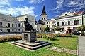 2012 Karwina, Frysztat, Skwer z pomnikiem prezydenta Masaryka (03).jpg