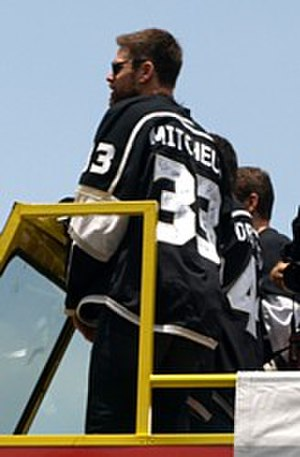 Willie Mitchell (ice hockey) - Mitchell at the 2012 Stanley Cup parade.